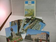 Vintage 1971 Russian Postcard Set: OMSK RUSSIA Pictures of the City (13 Cards)