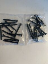"24 (2-12 packs) Black Shutter Lok Fasteners 3"" Bulk Shutterlocks Spikes Pegs"