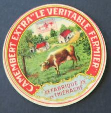 Etiquette fromage CAMEMBERT LE  VERITABLE FERMIER  french cheese label 26