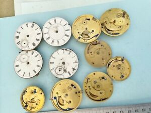 Job Lot Fusee Pocket watch movements for spare parts NON have chains Fusee parts