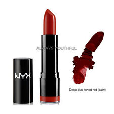 2 NYX Round Lipstick 569 Snow White Slim Lip Pencil 844 Deep Red Set Joy's