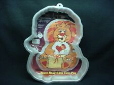 Wilton BRAVE HEART LION cake pan baking mold tin INSERT INSTRUCT Care Bear Cuz