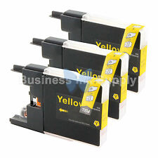 3 YELLOW LC71 LC75 Ink Cartridge for Brother MFC-J5910DW MFC-J625DW MFC-J6510DW