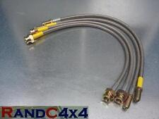 """134 Land Rover Discovery 1  2"""" +40mm  Extended Brake Hoses Stainless Steel 95-99"""
