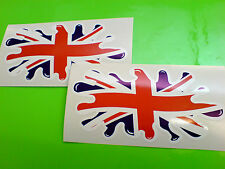 "Union Jack Drapeau Splat UK GB Van Pare-chocs autocollants stickers casque 6 ""ou 150mm"