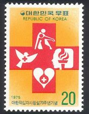 Korea 1975 Red Cross/Medical/Health/Dove/Heart/Blood/Birds/Flame 1v (n25842)