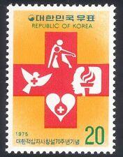 KOREA 1975 CROIX-ROUGE/médecine/santé/Colombe/Coeur/sang/oiseaux/flamme 1 V (n25842)