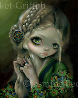 Jasmine Becket-Griffith art BIG print queen SIGNED Guinevere Had Green Eyes