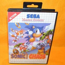 VINTAGE 1993 SEGA MASTER SYSTEM SONIC THE HEDGEHOG CHAOS CART VIDEO GAME PAL