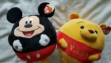 New Beanie Ballz Mickey Mouse and Winnie the Pooh with sound