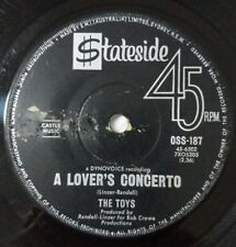 THE TOYS A Lover's Concerto / This Night Vinyl Single Record 45RPM 1965 Aus
