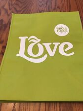 "(1)  Whole Foods  (Small)  ""Green Love""   Reusable Grocery  Bag"