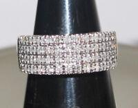 1.05ctw ROUND DIAMOND 14K WHITE GOLD ENGAGEMENT WEDDING COCKTAIL RING