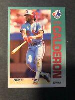 1992 FLEER BASEBALL CARD IVAN CALDERON #475 MONTREAL EXPOS MLB VINTAGE FREE SHIP