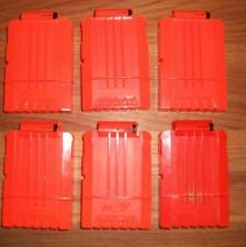 LOT of 6 used NERF 6 SHOT CLIPS / MAGAZINES