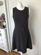 Jack Wills Women's Grey Textured Skater Dress Size 10
