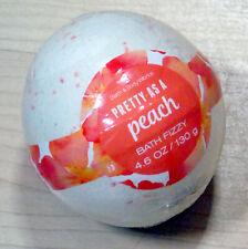 NEW BATH & BODY WORKS PRETTY AS A PEACH BATH FIZZY BOMB BALL FIZZ 4.6 OZ SCENTED