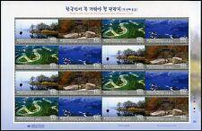 Korea Süd 2015 Tourismus Flußlandschaften See Bäume Tourism Trees 3084-87 MNH