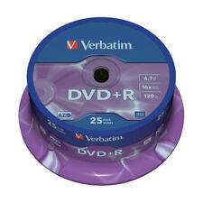 """DVD+R 16x Verbatim """"Matt Silver Azo"""" Tarrina 25 uds"""