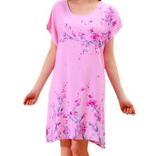 New Women Pajamas Set Sleepwear Nightgown Lounge Sleeve Cotton Top Long Lingerie