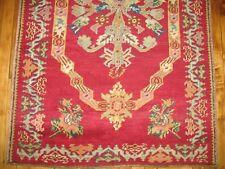 Antique Decorative Turkish Ghiordes Melas Oushak Ushak Prayer Rug Size 3'3''x5'2