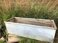 More details for galvanised water trough flower planter