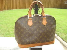 Beautiful Louis Vuitton Alma Brown LV Monogram Hand Bag Purse M51130 w/ Dust Bag