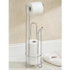 Toilet Paper Roll Holder Stainless Steel Stand Tissue Rack Standing Organizer