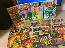 (16) Issue Incredible Hulk Comic Book LOT  #283-313 Marvel Comics VF (8.0)