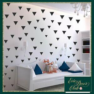 Triangles Wall Decals BLACK Decal Child Vinyl Decor office decoration Nursery