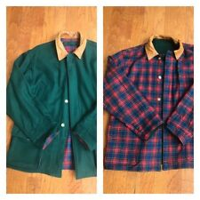 Men's Willis Geiger Wool Jacket Plaid Green Size Medium EUC