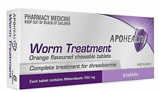 =>PRICE SMASH APOHEALTH worm Tablets (= Vermox or Combantrin1 ) 2 tablets