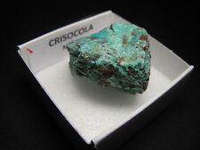 CRISOCOLA - Chrysocolla - Mejico - CAJITA - MEXICO MINERAL BOX 4x4 #372