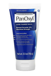 PanOxyl Acne Foaming Wash Benzoyl Peroxide 10% Maximum Strength 5.5oz (156g)