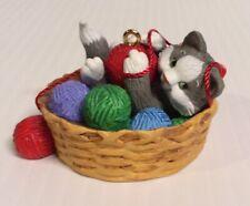Hallmark Mischievous Kittens Series 2010 12th In Series Cat In A Basket Ornament