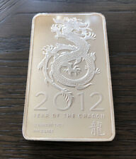 2012 Year Of The Dragon 10oz Silver Bar Unsealed