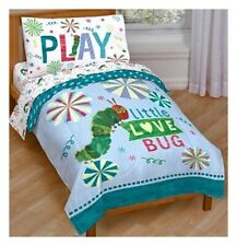 The Very Hungry Caterpillar 4pc Toddler Bed Set Quilt Sheets Bedding New