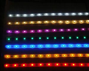 LED Strip Light Set With 9v PP3 Battery Box/12v Wire Option - Multi Size/Colours