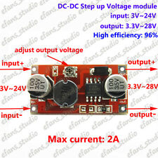 2A DC-DC Boost Step Up Voltge Converter 3v-24v 3.7v 7.4v to 5v 6v 9v 12v 24v