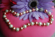 Pearl Shell Chain Round Stone Costume Necklaces & Pendants
