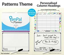 PenPal Planner - Large A3 Personalised Family Calendar 2 3 4 5 Column 2018 2019