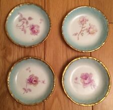 Antique Limoges LS&S Set of 4 Jam Plates 19th C France Lewis Strauss & Son