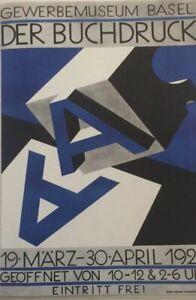 "Niklaus Stoecklin Basel Museum Vintage Poster Print 12 1/4"" x 10 1/2"""
