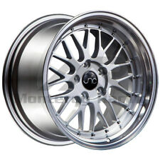 18x8 18X9 5X110 JNC 005 SILVER MACHINE MADE FOR PONTIAC SAAB SATURN DODGE
