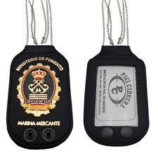 Porta placa para cuello y cinturón Capitán de yate