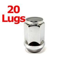 """20x Excalibur 1905 Lug Nuts 1/2"""" Bulge Acorn 3/4"""" Hex Chrome Closed End LH"""