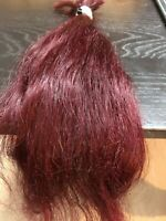 Human Hair Cut 16 Inch From Middle Aged Female, Dyed Red Hair, Dry Quality AS IS