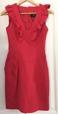 CUE DESIGNER MADE IN AU LINED SEXY WORK DRESS SZ 6