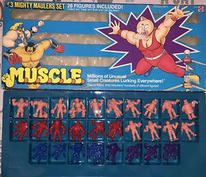 MUSCLE #3 Mighty Maulers Set Original Box Mattel 1985 28 Figures  m.u.s.c.l.e.