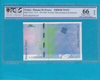 FAUTE - Billet 50 francs Saint-Exupéry - PCGS UNC66